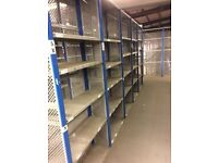 30 bays DEXION impex industrial shelving 2.1 m high. ( storage , pallet racking )