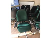 office furniture green fully functional office chairs