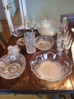 Clear Glass Collection; includes crystal
