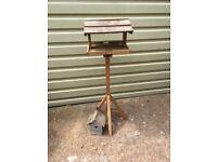 Bird table and nesting box