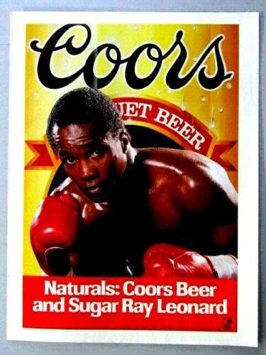 "Sugar Ray Leonard Coors Original 1987 Print Ad 8.5 x 11"""