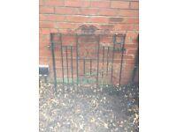 Cast iron ornate garden gate