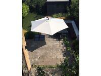 3m Freestanding Garden Parasol