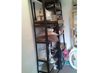 metal storage shelving 2 big big unit ,s each one over 9fr and you can alter to small ones 35.00