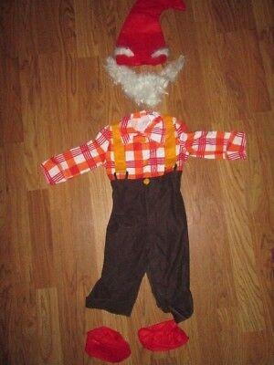 Boys toddler GARDEN GNOME Halloween Costume 12 - 18 months - 18 Month Halloween Costumes For Boys