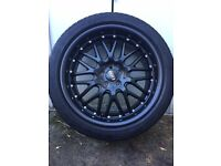 Genuine Dotz 18 inch alloys and Pirelli tyres Audi TT VW Golf