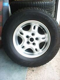 range rover ALLOYS WHLS SET OF 4 TYRES OFF P 38