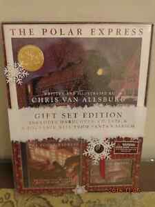 The Polar Express Gift Set:  Hardcover Book, CD, Tape & Bell!