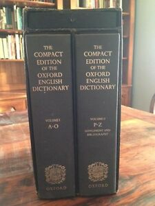 The Compact Edition of the Oxford English Dictionary- Two Volume