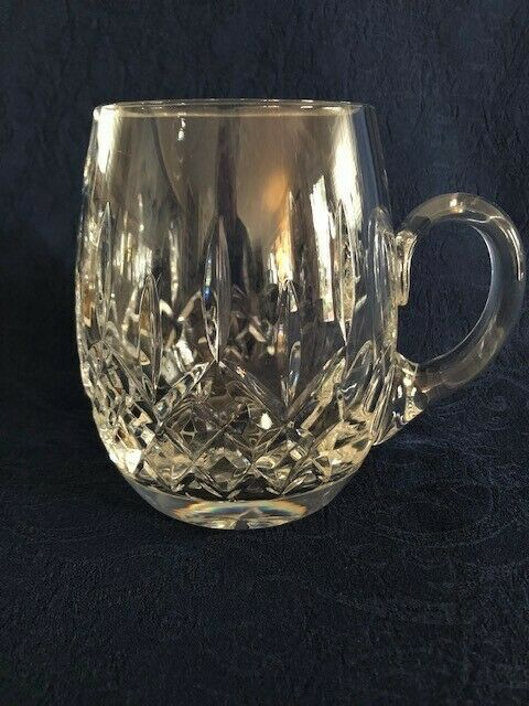 Beautiful Galway Irish Cut Crystal Like Lismore Pattern Tankard Mug
