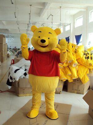Cartoon Character Costume ( Winnie The Pooh Mascot Costume Adult Dress Bear Cartoon Character)