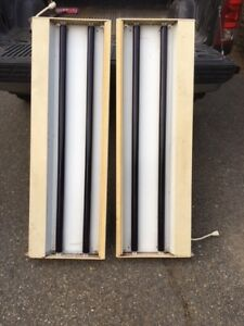 "fluorescent light fixtures (portable) with rare ""black lights"""