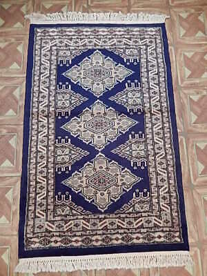 Yale Blue - Open Space Silk feel Handmade 3 x 4 Beautiful Sheen Small - Yale Small Rug