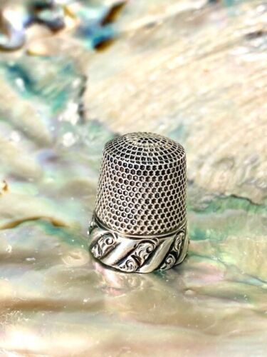 Beautiful Antique Sterling Silver Thimble Ketcham and McDougall Gorgeous!!!