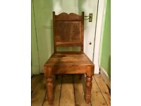 Bespoke Carved Wooden Chair