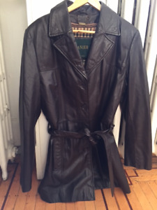 Danier leather coat, Aviator leather coat, Bianca Nygard jacket