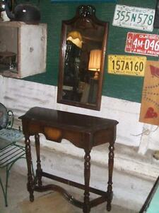 Walnut Hall table and matching mirror CA.1940