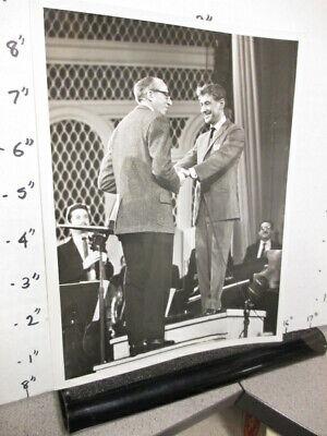 TV show promo photo 1950s AARON COPLAND Leonard Bernstein orchestra conductor