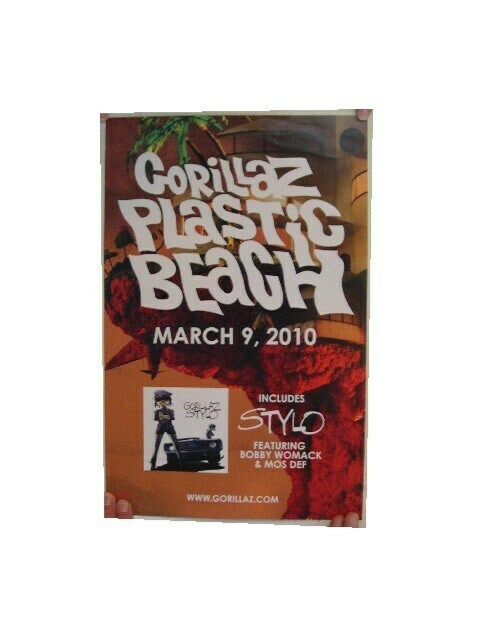Gorillaz Poster Plastic Beach Gorillas The