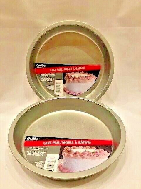 """Cake Pans, Set of 2 Cooking Concepts Round Cake Pans 8"""" ea. Baking, Cakes etcNEW"""
