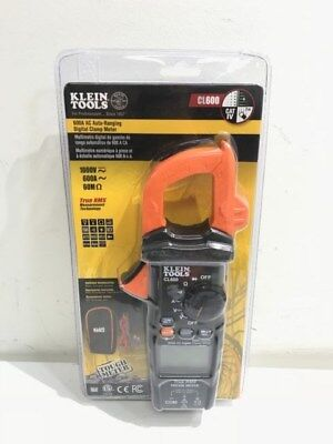 Klein Tools Cl600 Digital Clamp Meter Ac Auto-ranging 600a Trms True Rms