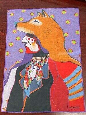 Jacques Marie Mage Collectible Native American Oversize Cleaning Cloth