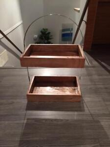 Storage stand with stainless handle