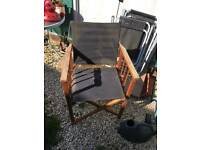 4 foldable garden chairs