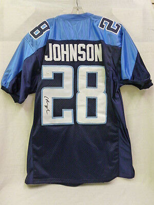 Chris Johnson Signed Tennessee Titans XL Football Jersey JSA NFL