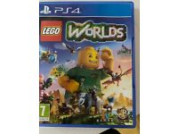 PS4 Lego Worlds Game: box and game in excellent condition