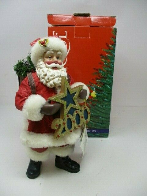 "Possible Dreams Clothique Santa Figure ""Greeting the Millennium"" #713213  10"" H"