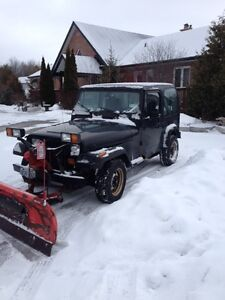 TRADE FOR TRAVEL TRAILER JEEP YYJ WITH WESTERN PLOW