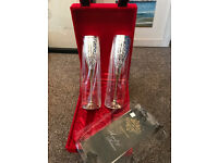 2 Brand new boxed Indian engraved Goblets (+Free clutch bag and china mugs)