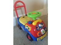 Mickey Mouse ride on car inc box