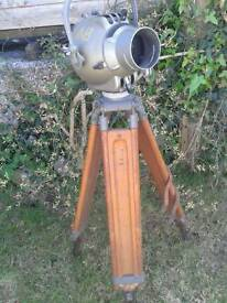 Vintage tripod and lamp