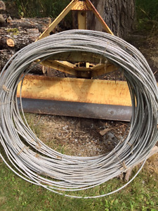 #2 AWG ACSR Overhead Electrical Cable (bare). About 750 ft.