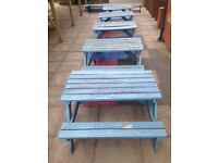 5 x School Garden Benches
