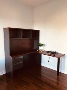 Desk with bookcase free