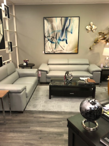 leather Sofa & Loveseat, Dinning Table with 6 chairs and Tv unit