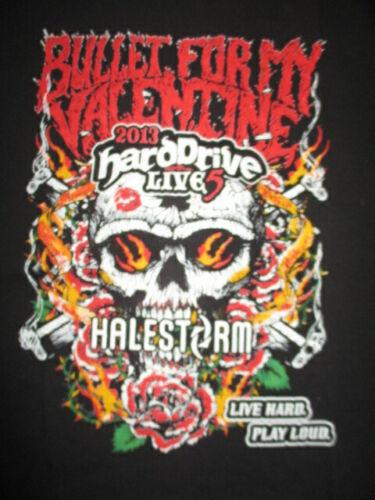 "2013 BULLET FOR MY VALENTINE ""Hard Drive Live"" Concert Tour (XL) Shirt HALESTORM"
