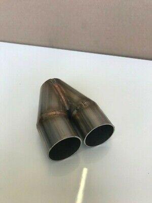 exhaust welded y piece 38mm