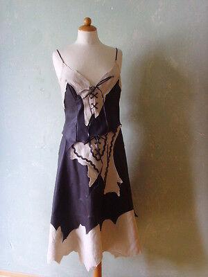 Morgan de toi Kleid Kostüm Mittelalter Western Steinzeit braun beige 38 M (S38)*