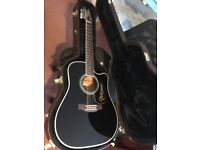 As new, 12 string Takamine Guitar with hard and soft cases, perfect condition