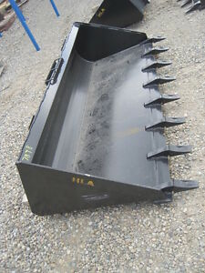 "Brand New 72"" Skid Steer Tooth Bucket (skid steer attachment)"
