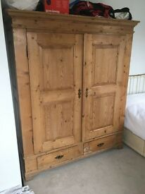 Large Pine Wardrobe with drawers
