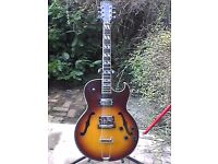 Encore hollow bodied electric guitar.No issues and uprated parts