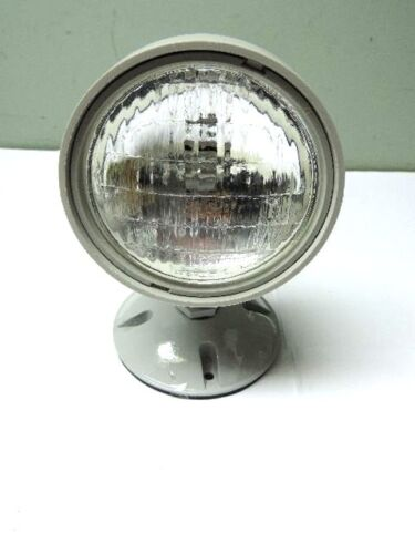 Weatherproof Remote Head LED-Halogen 6 Volt Emergency Light, Glass Lens