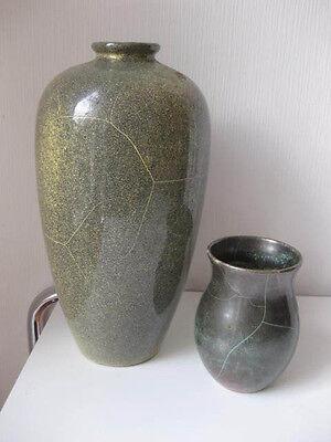 2x Vase Richard Uhlemeyer Hannover Studiokeramik Art Deco