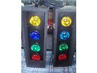 SOUNDLAB DISCO LIGHTS - AUTO 4s (8 x BULB DISCO LIGHTS)- BUILT-IN-CONTROLLER