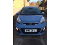 Kia Picanto - blue 5 door manual hatchback - with almost 13 months MOT